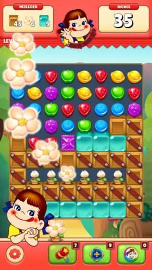 iPhone、iPadアプリ「ミルキーマッチ:ペコちゃんパズルゲーム」のスクリーンショット 4枚目
