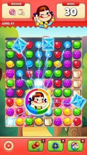 iPhone、iPadアプリ「ミルキーマッチ:ペコちゃんパズルゲーム」のスクリーンショット 3枚目