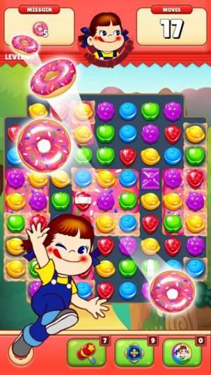 iPhone、iPadアプリ「ミルキーマッチ:ペコちゃんパズルゲーム」のスクリーンショット 1枚目
