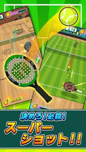 iPhone、iPadアプリ「机でテニス」のスクリーンショット 2枚目