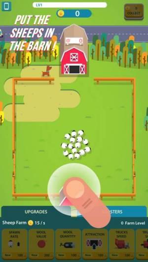 iPhone、iPadアプリ「Wool Factory Idle」のスクリーンショット 1枚目