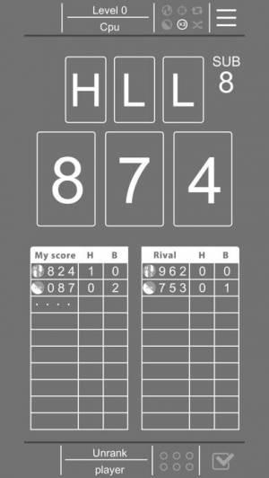 iPhone、iPadアプリ「Hit&Blow -対戦推理ゲーム-」のスクリーンショット 1枚目