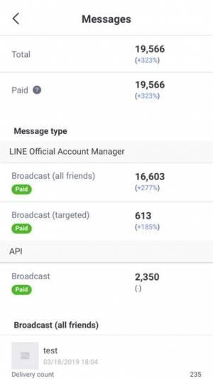 iPhone、iPadアプリ「LINE公式アカウント」のスクリーンショット 3枚目