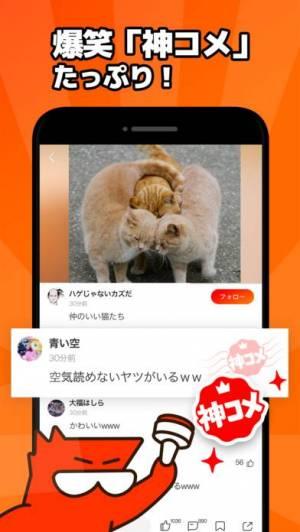 iPhone、iPadアプリ「Larfラーフ:みんなと交流できる爆笑神コメアプリ」のスクリーンショット 4枚目