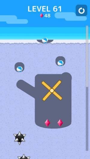 iPhone、iPadアプリ「ボール の巣 -穴を掘ってボールを導け!」のスクリーンショット 2枚目