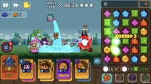 iPhone、iPadアプリ「パズル&ディフェンス:Match 3 Battle」のスクリーンショット 1枚目