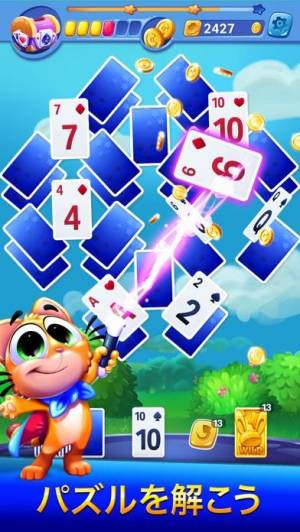 iPhone、iPadアプリ「Solitaire Showtime:Tri-Peaks」のスクリーンショット 1枚目