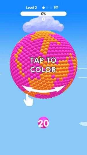 iPhone、iPadアプリ「Ball Paint」のスクリーンショット 2枚目