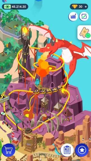 iPhone、iPadアプリ「《Idle Theme Park》 - テーマパークの大物」のスクリーンショット 2枚目