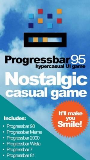 iPhone、iPadアプリ「ProgressBar95 - retro arcade」のスクリーンショット 1枚目