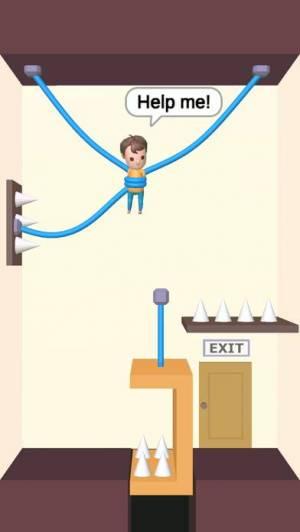 iPhone、iPadアプリ「Rescue Cut - なぞとき 脱出ゲーム」のスクリーンショット 1枚目