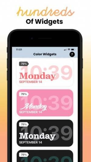 iPhone、iPadアプリ「Color Widgets」のスクリーンショット 4枚目
