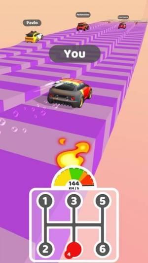 iPhone、iPadアプリ「Gear Race 3D」のスクリーンショット 1枚目
