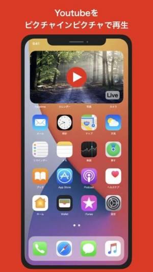 iPhone、iPadアプリ「バックグラウンドでピクチャインピクチャのピピン」のスクリーンショット 1枚目