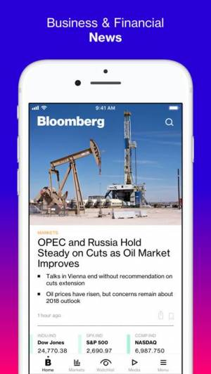iPhone、iPadアプリ「Bloomberg: Business News」のスクリーンショット 1枚目