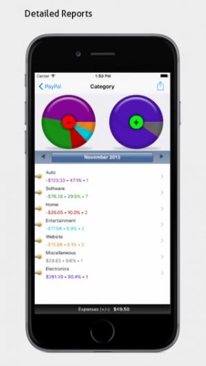 iPhone、iPadアプリ「PocketMoney - checkbook, budgets, expenses」のスクリーンショット 4枚目