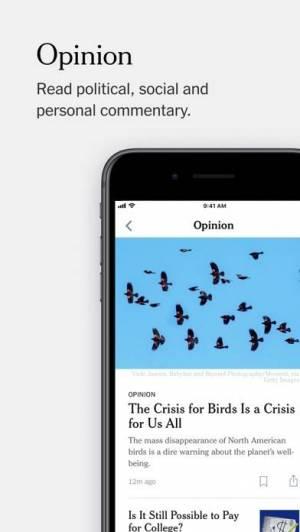 iPhone、iPadアプリ「The New York Times」のスクリーンショット 5枚目