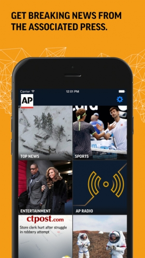 iPhone、iPadアプリ「AP Mobile - Breaking Local, National & Global News」のスクリーンショット 1枚目