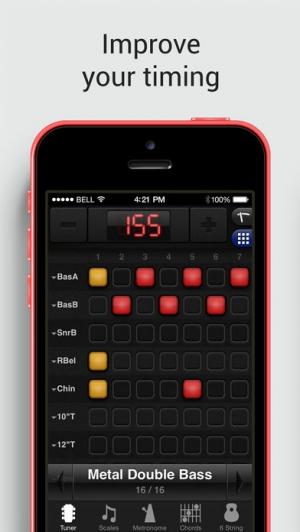 iPhone、iPadアプリ「GuitarToolkit - tuner, metronome, chords & scales」のスクリーンショット 4枚目