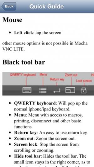 iPhone、iPadアプリ「Mocha VNC Lite」のスクリーンショット 5枚目