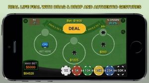 iPhone、iPadアプリ「Blackjack 21 Pro Multi-Hand FREE + (Blackjack Pass/Spanish 21/Super 31)」のスクリーンショット 2枚目
