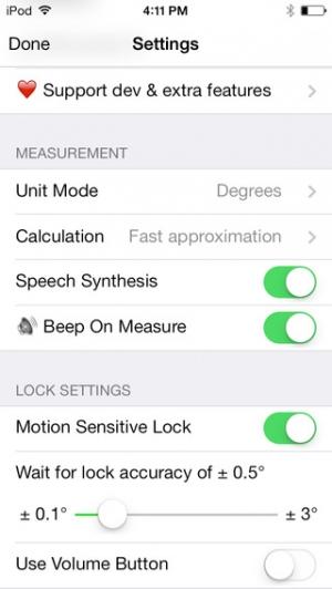 iPhone、iPadアプリ「バブルレベル+傾斜計 (clinometer pro)」のスクリーンショット 5枚目