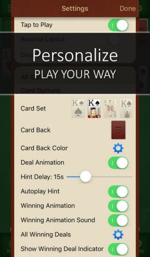 iPhone、iPadアプリ「Solitaire Free for iPhone & iPad」のスクリーンショット 5枚目