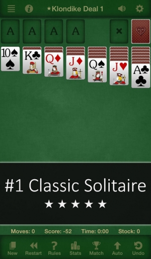 iPhone、iPadアプリ「Solitaire Free for iPhone & iPad」のスクリーンショット 1枚目