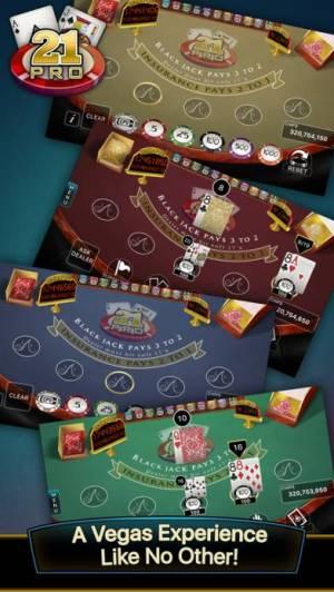iPhone、iPadアプリ「21 Pro: Blackjack Multi-Hand」のスクリーンショット 1枚目