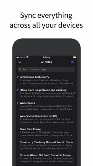 iPhone、iPadアプリ「Simplenote」のスクリーンショット 2枚目