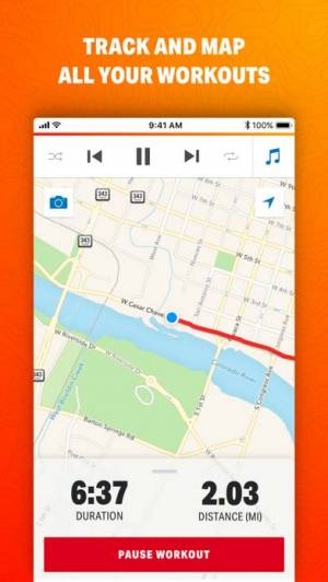 iPhone、iPadアプリ「Map My Ride by Under Armour」のスクリーンショット 1枚目