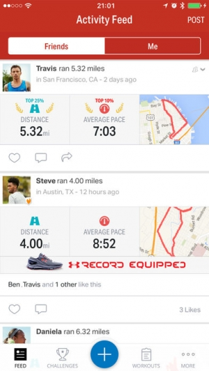 iPhone、iPadアプリ「Map My Ride by Under Armour」のスクリーンショット 3枚目