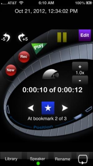 iPhone、iPadアプリ「HappyTalkレコーダー: 最高のレコーダー!(HT Professional Recorder)」のスクリーンショット 1枚目