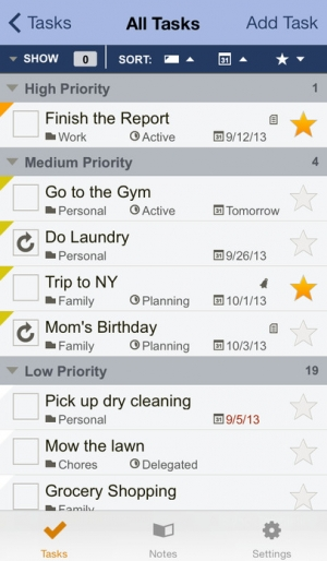 iPhone、iPadアプリ「Toodledo: Todo Lists - Notes - Outlines - Habits」のスクリーンショット 2枚目