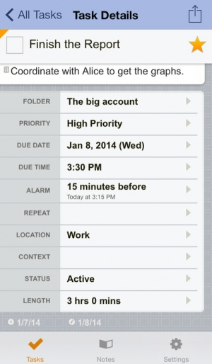 iPhone、iPadアプリ「Toodledo: Todo Lists - Notes - Outlines - Habits」のスクリーンショット 3枚目