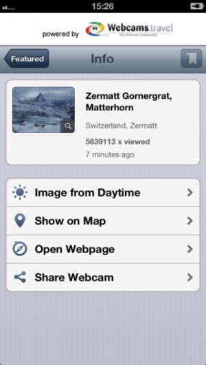 iPhone、iPadアプリ「WorldView by webcams.travel」のスクリーンショット 3枚目