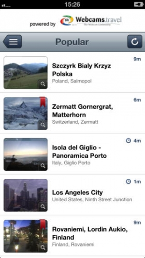 iPhone、iPadアプリ「WorldView by webcams.travel」のスクリーンショット 1枚目
