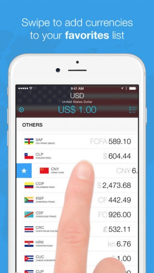 iPhone、iPadアプリ「Currencies - The Smart Currency Converter」のスクリーンショット 3枚目