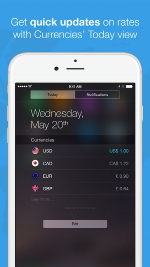 iPhone、iPadアプリ「Currencies - The Smart Currency Converter」のスクリーンショット 5枚目