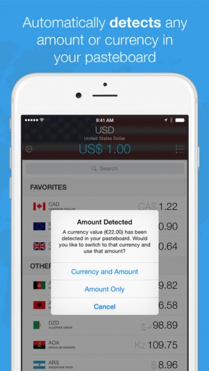 iPhone、iPadアプリ「Currencies - The Smart Currency Converter」のスクリーンショット 1枚目