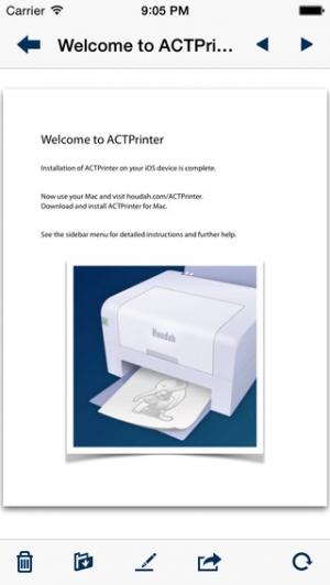 iPhone、iPadアプリ「ACTPrinter - Virtual Printer」のスクリーンショット 1枚目