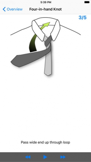 iPhone、iPadアプリ「vTie - ネクタイ - tie a tie guide with style for business, interview, wedding, party」のスクリーンショット 2枚目