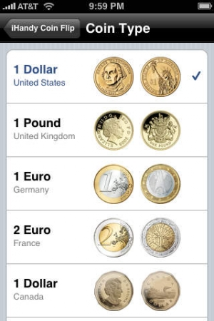 iPhone、iPadアプリ「Coin Flip Free」のスクリーンショット 3枚目