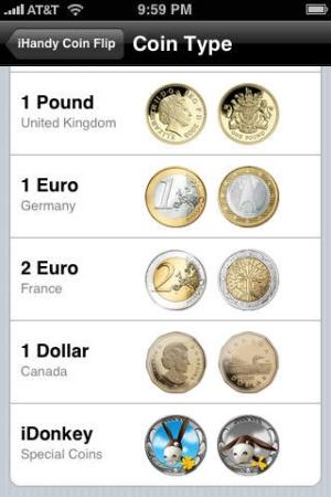 iPhone、iPadアプリ「Coin Flip Free」のスクリーンショット 4枚目