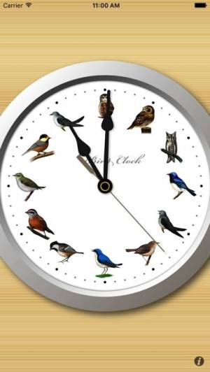 iPhone、iPadアプリ「野鳥時計」のスクリーンショット 1枚目