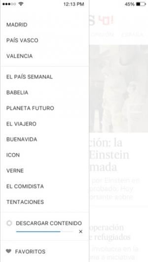 iPhone、iPadアプリ「EL PAÍS」のスクリーンショット 5枚目