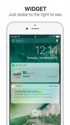 iPhone、iPadアプリ「Big Day Lite - 記念日までの日にちを通知」のスクリーンショット 2枚目