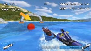 iPhone、iPadアプリ「Aqua Moto Racing」のスクリーンショット 1枚目