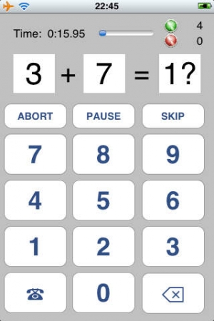 iPhone、iPadアプリ「百問計算 Lite」のスクリーンショット 1枚目