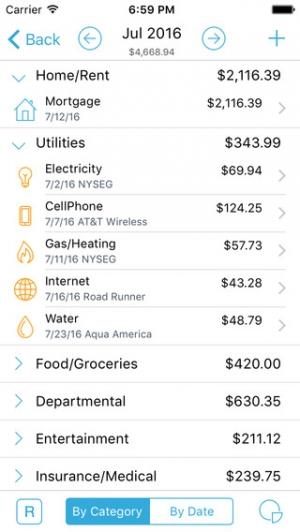 iPhone、iPadアプリ「HomeBudget with Sync」のスクリーンショット 2枚目